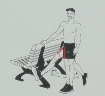 balacement de la jambe avant arrière