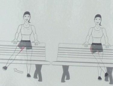 balancement de la jambe droite gauche