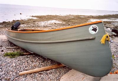 Barque crie au bord de la Baie James