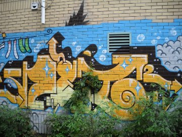 black and yellow graffiti