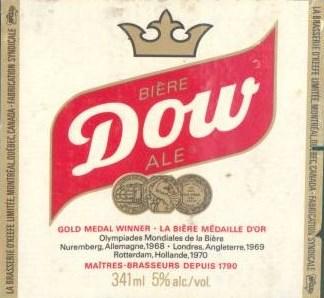 etiquette brasserie dow