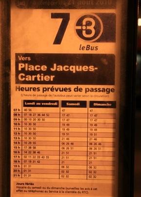 ligne 7 autobus québec