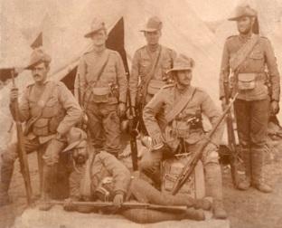 soldats canadiens dans l'Afrique du Sud