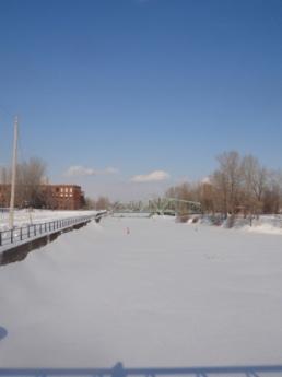 canal de lachine en hiver