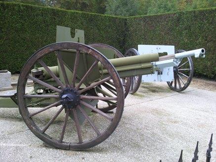 canons de la premiere guerre