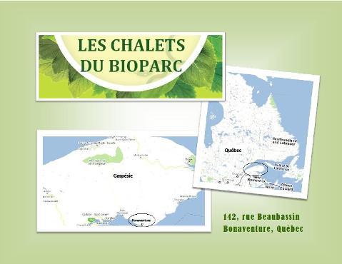 carte du bioparc de la gaspésie