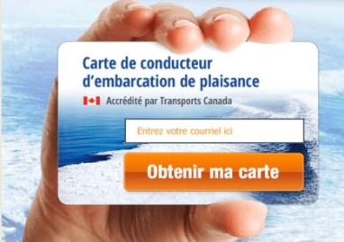 carte permis bateau