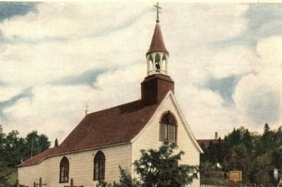 carte postale chapelle de Tadoussac