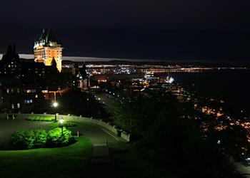 chateau frontenac la nuit
