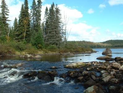 chute de la rivière aux éclairs