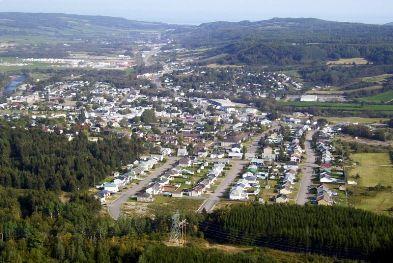La vue générale de ville de Clermont