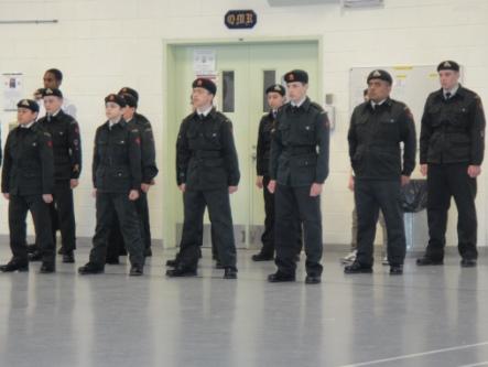 cadets en formation