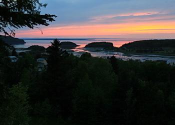 coucher du soleil au bic