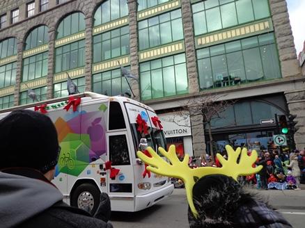 défilé de Noël à Montréal