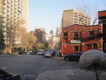 descente vers la rue sherbrooke