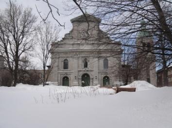 eglise NDG en hiver