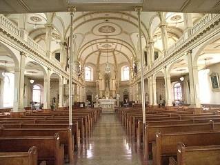 interieur de l'église de st. joseph de deschambault