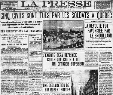 émeute de la presse