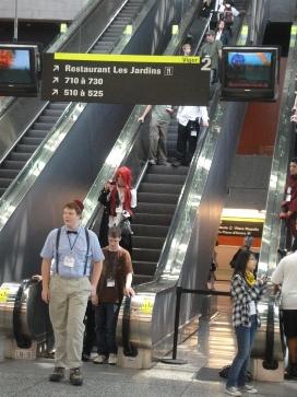 escalier du palais des congrès