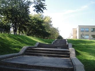 escalier parc lafontaine