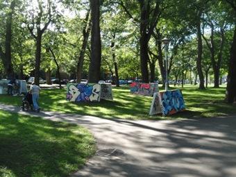 événement graffiti au parc Lafontaine