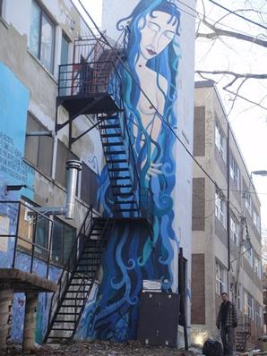 femme nue graffiti