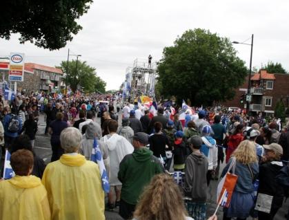 fete nationale 2011, vue foule