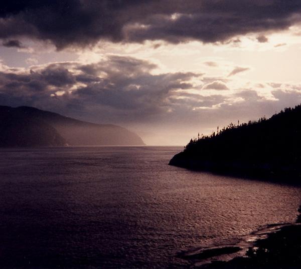Le fjord à Tadoussac
