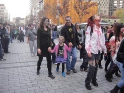 foule des zombies