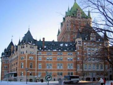 chateau frontenac en hiver