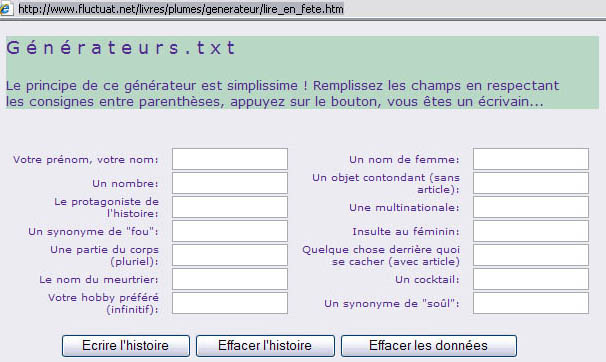 générateur de phrases de fluctuat.net