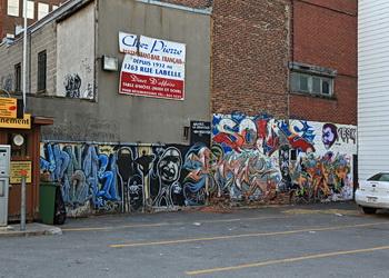 graffiti sur les murs