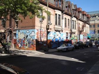 graffiti rue tower montréal
