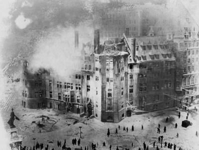 incendie du château frontenac