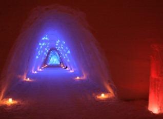 l'intérieur du village des glaces
