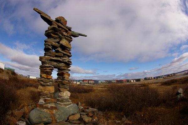 Inukshuk à Kuujjuaq