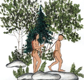 prisonnier et iroquois