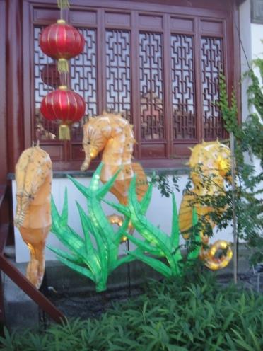 jardin chine cheval