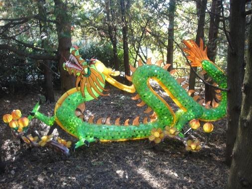 dragon vert de la chine