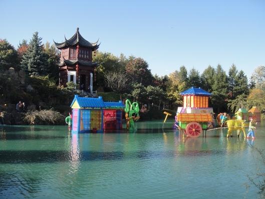 traversée du lac chinois