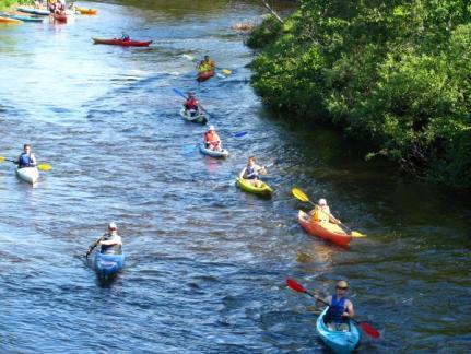 kayak de la rivière bleue