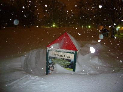 kiosque de neige
