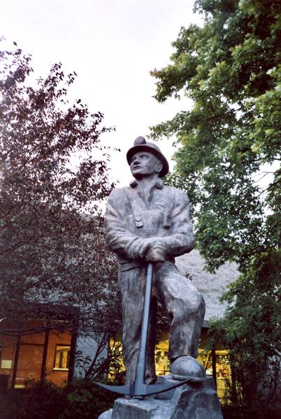 Statue du mineur à Val d'Or