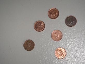 monnaie un cent