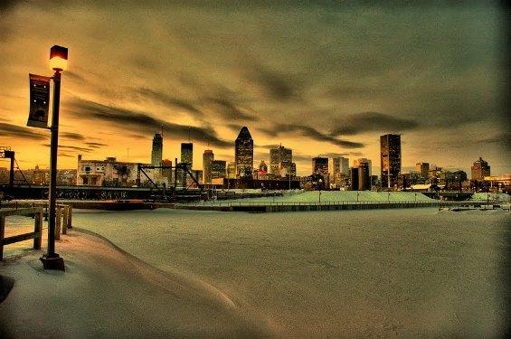 Montréal en hiver. Droit d'auteur - copyright © Oleg Railean