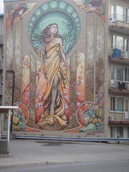 murale femme