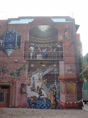 murale sur la rue ste catherine