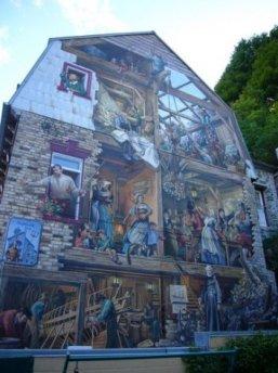 une murale du centre-ville de québec