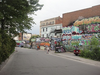 vue panoramique graffiti