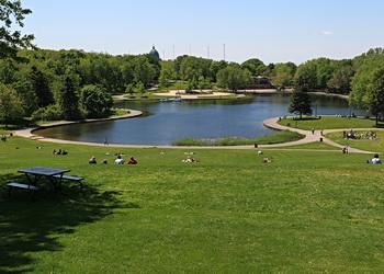 parc mont royal vue sur le lac castor